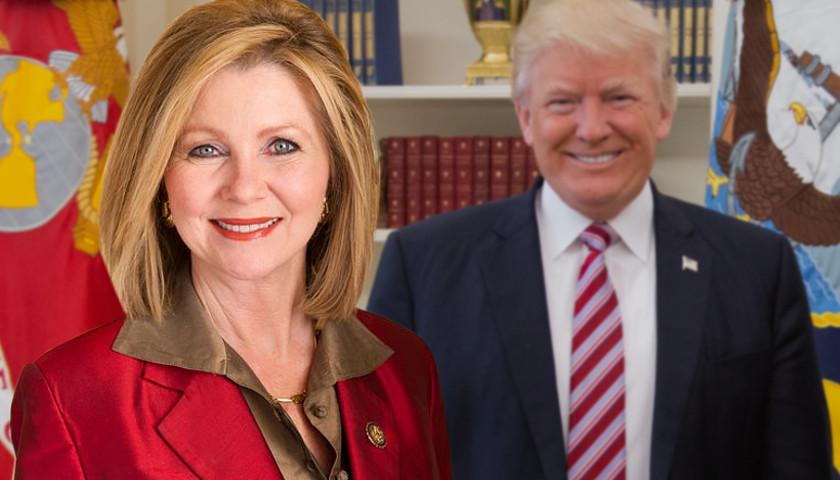 Marsha Blackburn, President Donald Trump