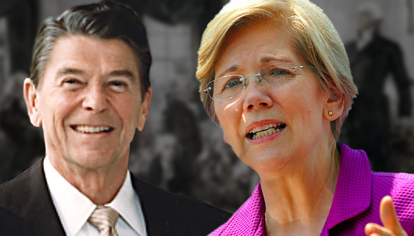 Ronald Reagan, Elizabeth Warren