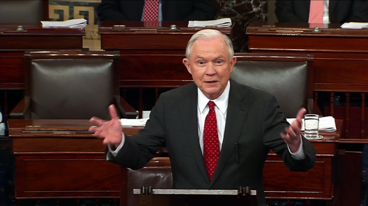 Newly-minted Attorney General Jeff Sessions
