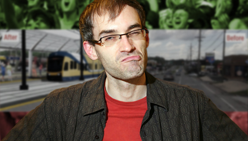 skeptical transit plan man