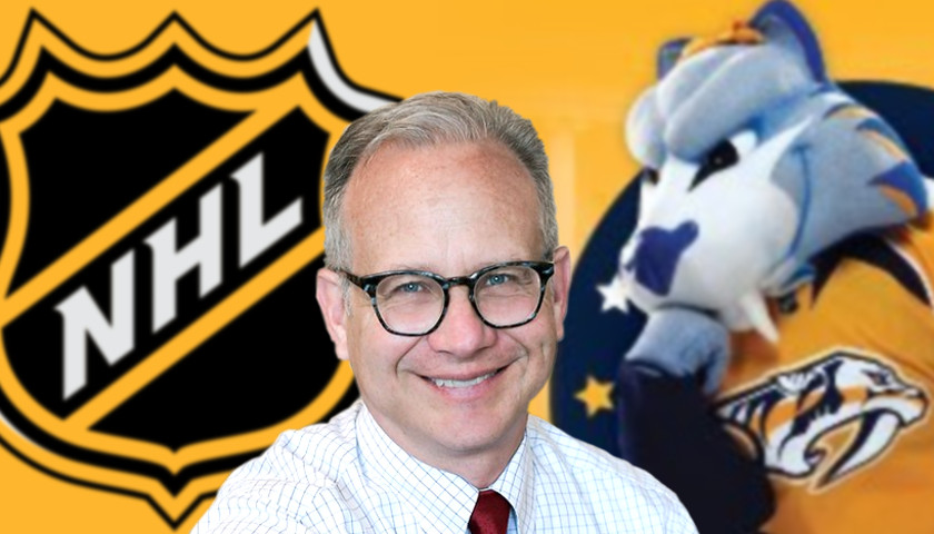 David Briley, the NHL, and Gnash, the Predators mascot