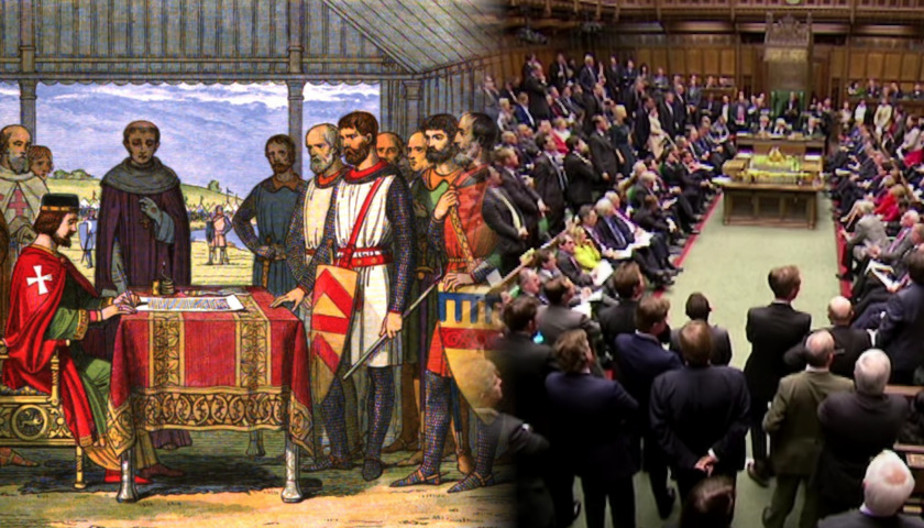 Magna Carta signing, Prime Minister's Questions