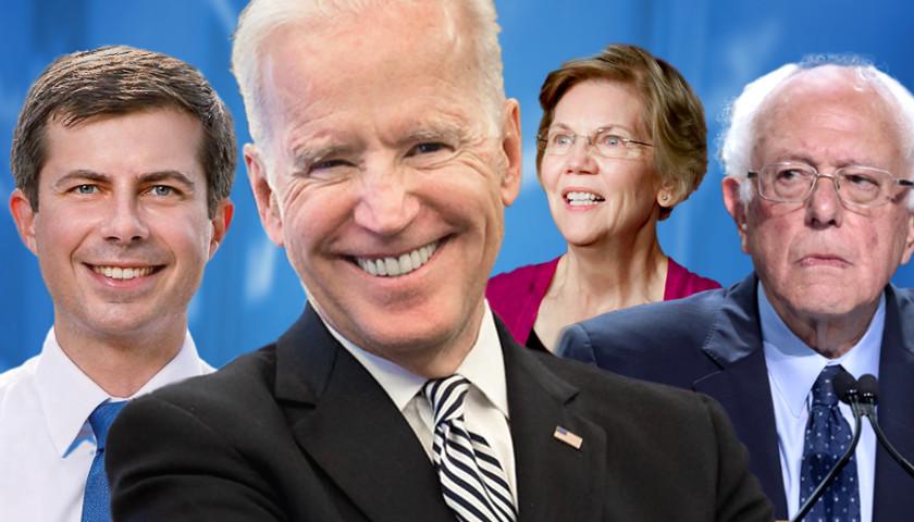Pete Buttigeig, Joe Biden, Elizabeth Warren, Bernie Sanders