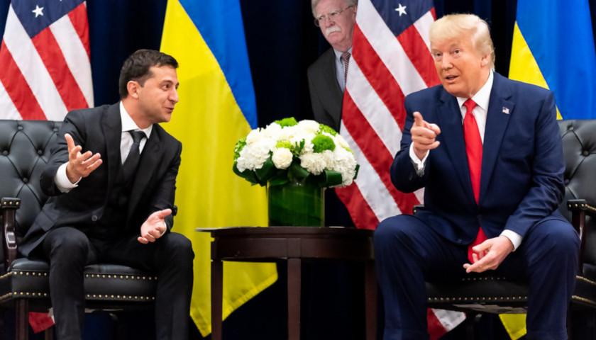 US Pres. Trump and Ukrainian Pres. Zelensky... and John Bolton