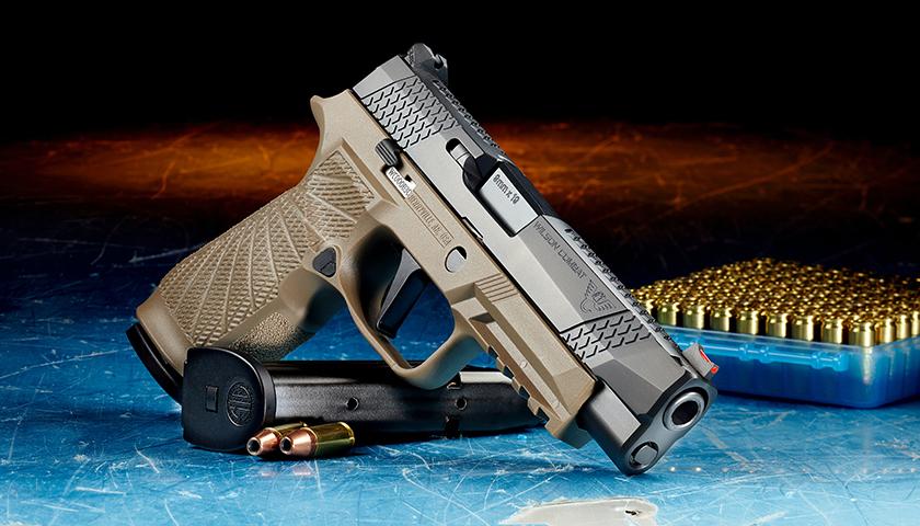 Hand gun with ammunition