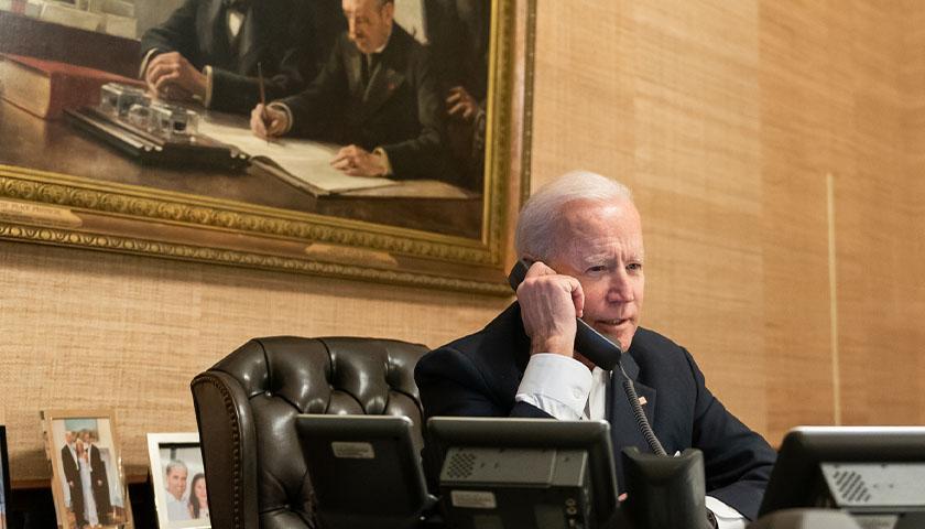 Joe Biden on the phone