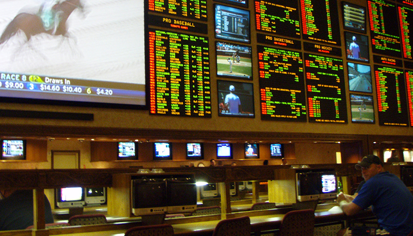The sports betting areas inside the casinos are like trading floors.