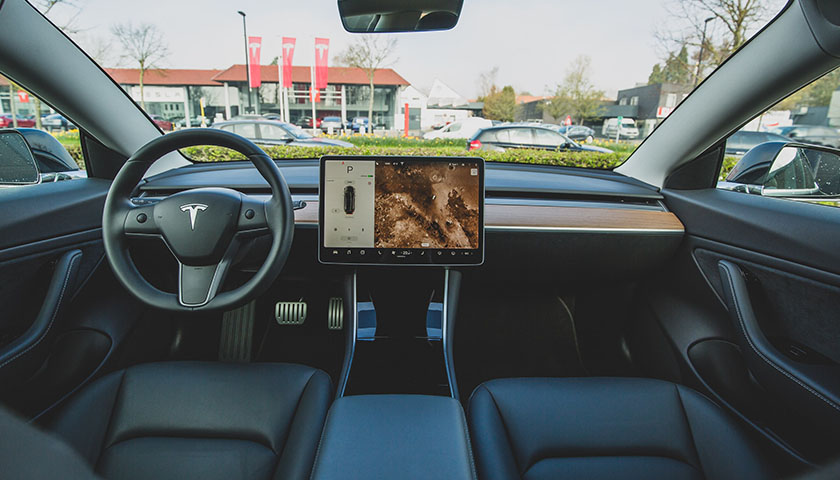 Inside of a Tesla