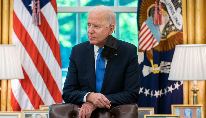 Joe Biden in the office