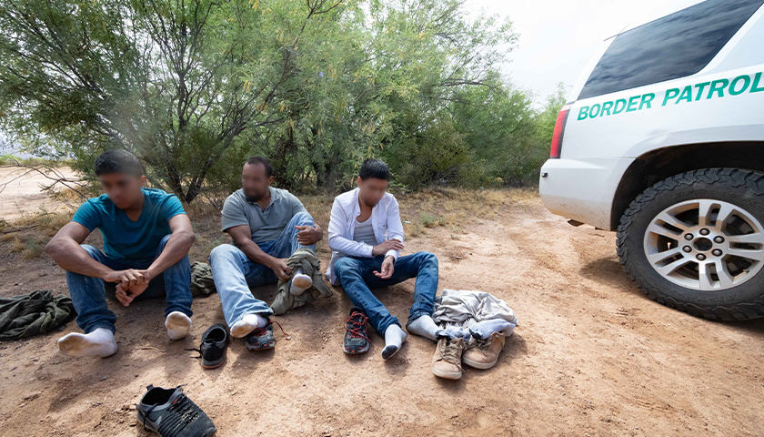 Illegal Aliens apprehended by Tucson Sector Border Patrol agents with assistance from agents from Air and Marine Operations, Tucson Air Branch.