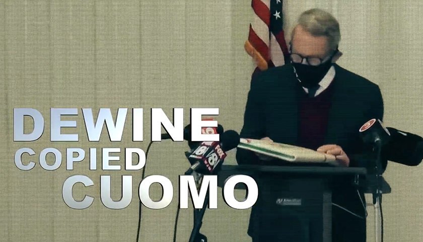 Mike DeWine in a political ad