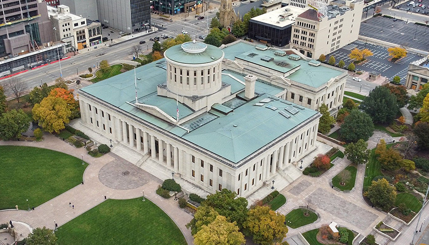 aerial view of the Ohio Statehouse