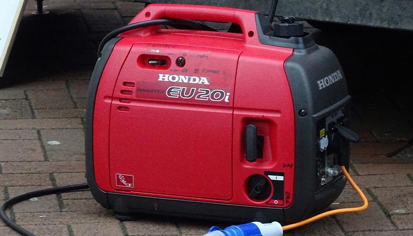 Gas powered Honda generator